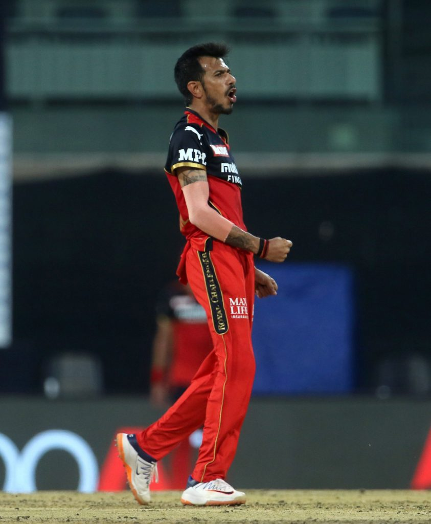 Yuzi Chahal picks up his first wicket of the season